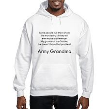 Army Grandma No Problem Grandson Hoodie