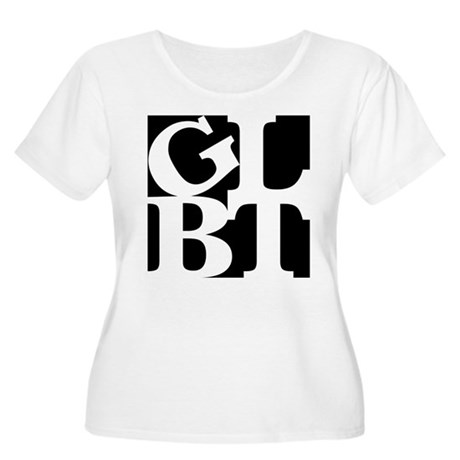 GLBT Black Pop Women's Plus Size Scoop Neck T-Shir