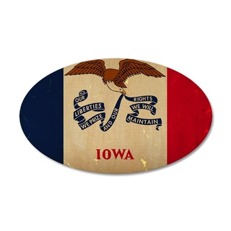 Iowa State Flag VINTAGE Wall Decal