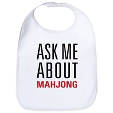 Mahjong - Ask Me About - Bib