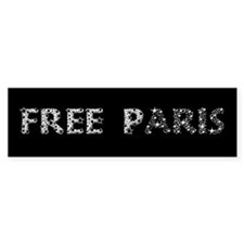 Free Paris Bumper Bumper Sticker