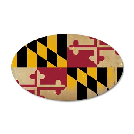 Maryland State Flag VINTAGE Wall Decal