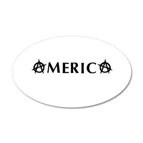 America Anarchy 20x12 Oval Wall Decal