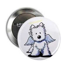 "KiniArt Westie Angel 2.25"" Button"