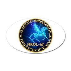 NROL-67 Program Team 20x12 Oval Wall Decal