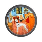 Room with a Whippet Wall Clock