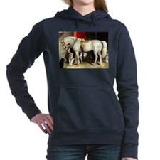 White Horse Women's Hooded Sweatshirt