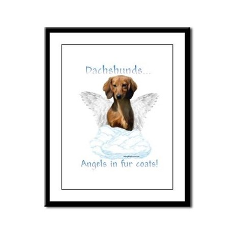 Dachshund Angel Framed Panel Print
