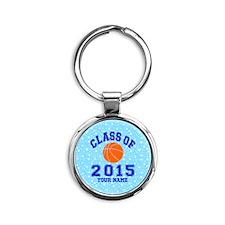 Class Of 2015 Basketball Round Keychain