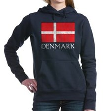Denmark Flag Women's Hooded Sweatshirt