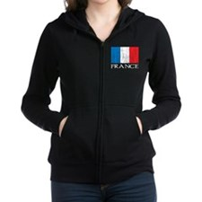 France Flag Women's Zip Hoodie