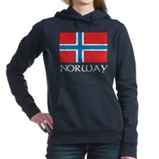 Norway Flag Women's Hooded Sweatshirt