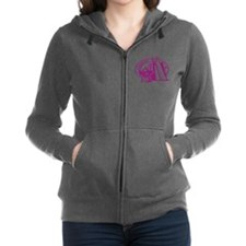 Singapore Passport Stamp Women's Zip Hoodie