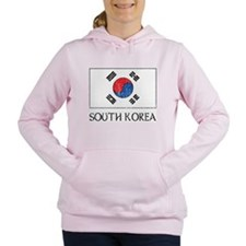 South Korea Flag Women's Hooded Sweatshirt