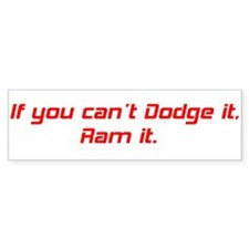 Dodge Ram Bumper Sticker