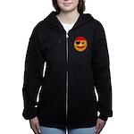 Pirate Smilie Women's Zip Hoodie