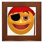 Pirate Smilie Framed Tile