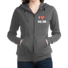 I Love my Job Women's Zip Hoodie