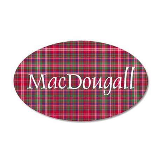Tartan - MacDougall 35x21 Oval Wall Decal