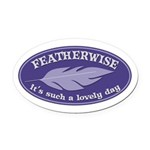 Featherwise Oval Car Magnet