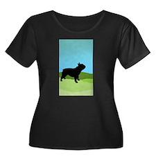 Blue Sky French Bulldog Plus Size T-Shirt