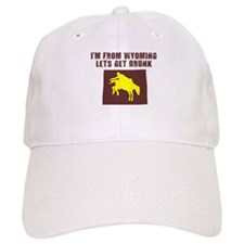 FUNNY WYOMING SHIRT DRINKING Baseball Cap