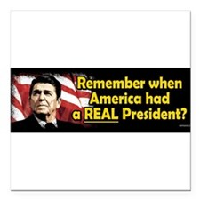 "Funny Pro republican Square Car Magnet 3"" x 3"""