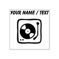 Custom Record Player Sticker
