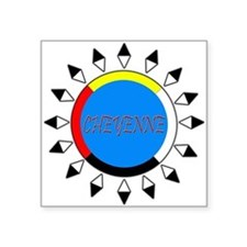 "Funny Ndn Square Sticker 3"" x 3"""