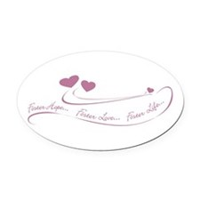 Unique Family baby mommy Oval Car Magnet