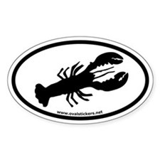 Lobster Oval Car Decal