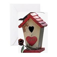 birdhouse 3 Greeting Cards (Pk of 10)