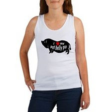 potbellypig love copy Tank Top