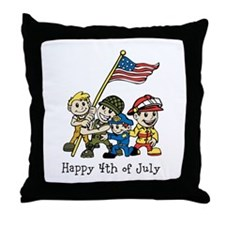 4th of July Kids Throw Pillow