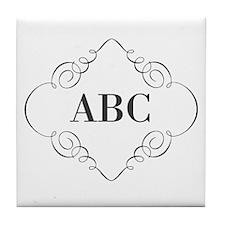 Vintage Monogram Tile Coaster