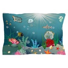 Blue Sea Pillow Case