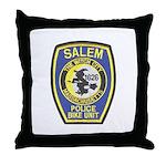 Salem Bike Police Throw Pillow