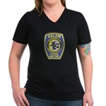 Salem Bike Police Women's V-Neck Dark T-Shirt