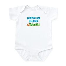 Biathlon champ in training Infant Bodysuit