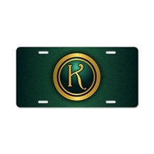 Irish Luck K Aluminum License Plate