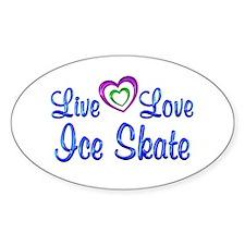 Live Love Ice Skate Decal