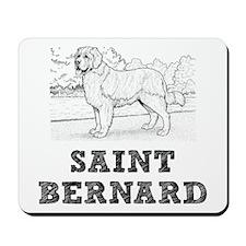 Saint Bernard Dog Mousepad