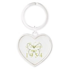 Fabulous Since 1954 Heart Keychain