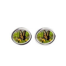 Cute Butterflies Oval Cufflinks