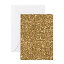 Gold Faux Glitter Greeting Cards