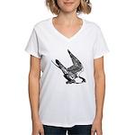 Peregrine Sketch Women's V-Neck T-Shirt