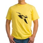 Bufflehead Sketch Yellow T-Shirt