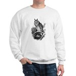 Long-eared Owl Sketch Sweatshirt
