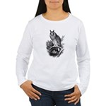 Long-eared Owl Sketch Women's Long Sleeve T-Shirt