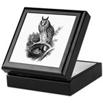 Long-eared Owl Sketch Keepsake Box
